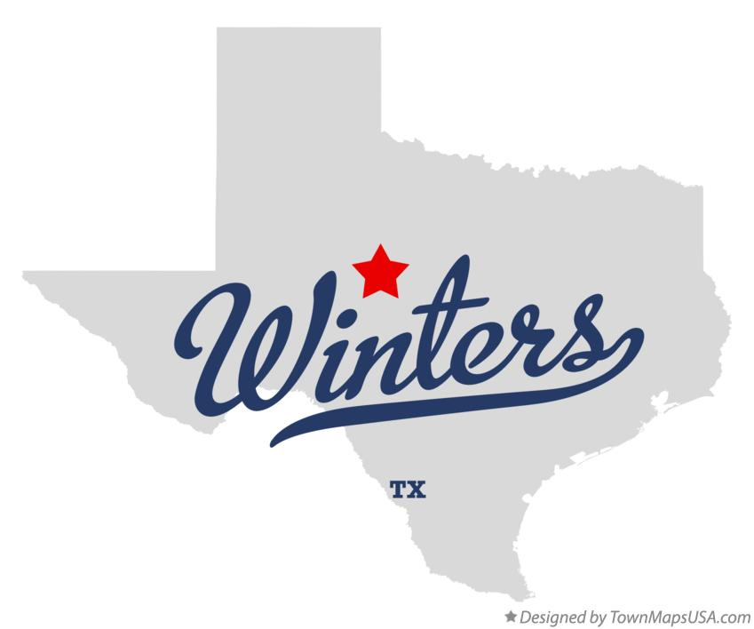 Map of Winters Texas TX