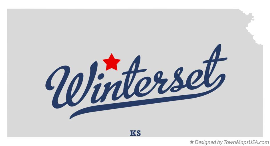 Map of Winterset Kansas KS