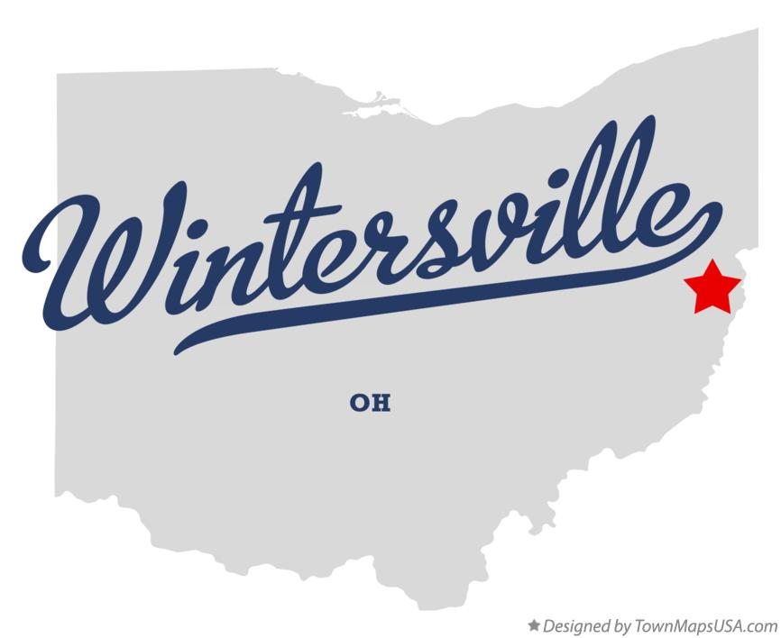 Map of Wintersville Ohio OH