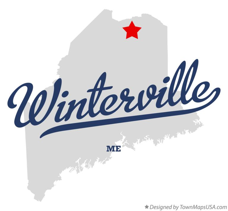Map of Winterville Maine ME