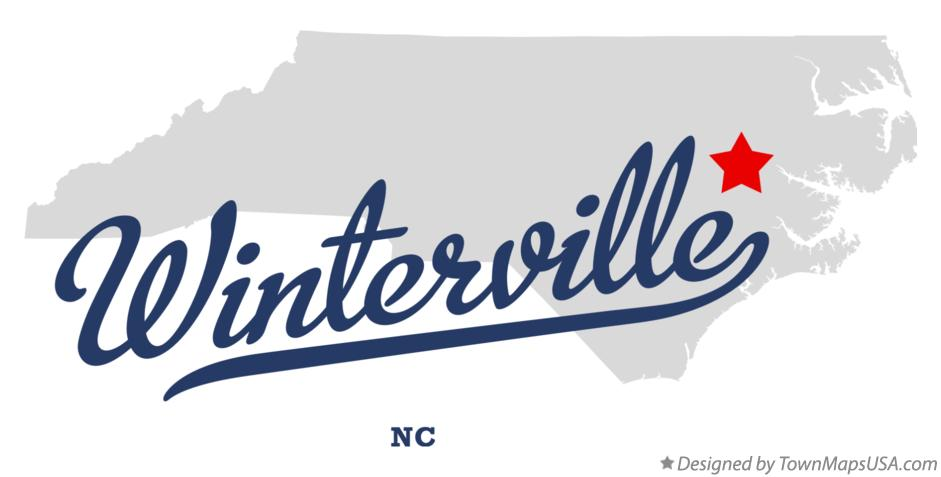 Map of Winterville North Carolina NC
