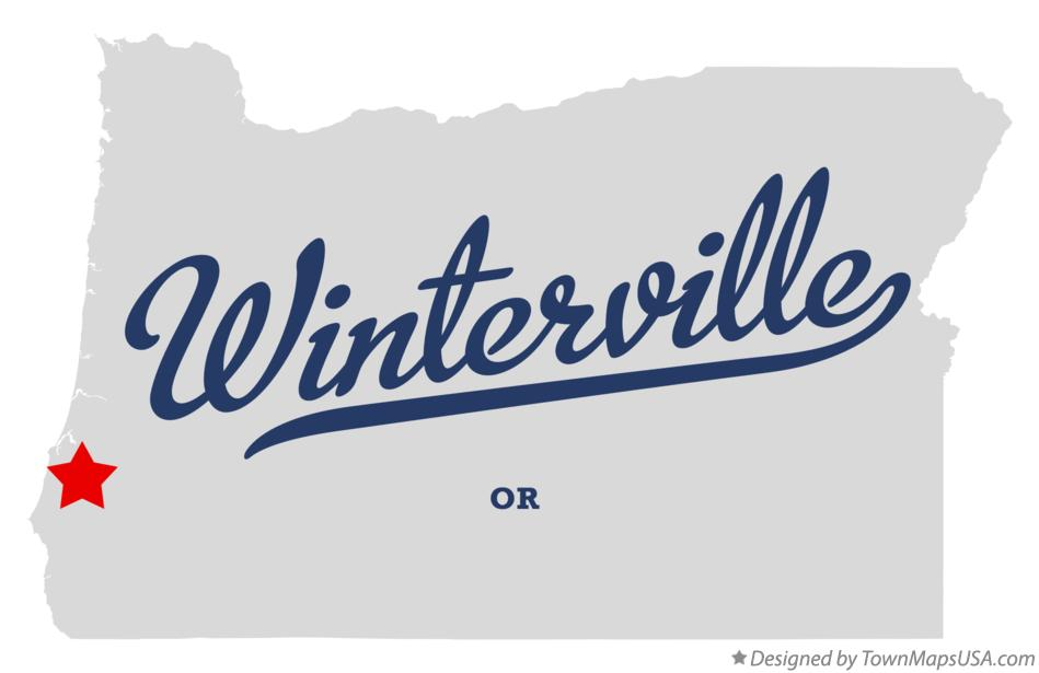 Map of Winterville Oregon OR