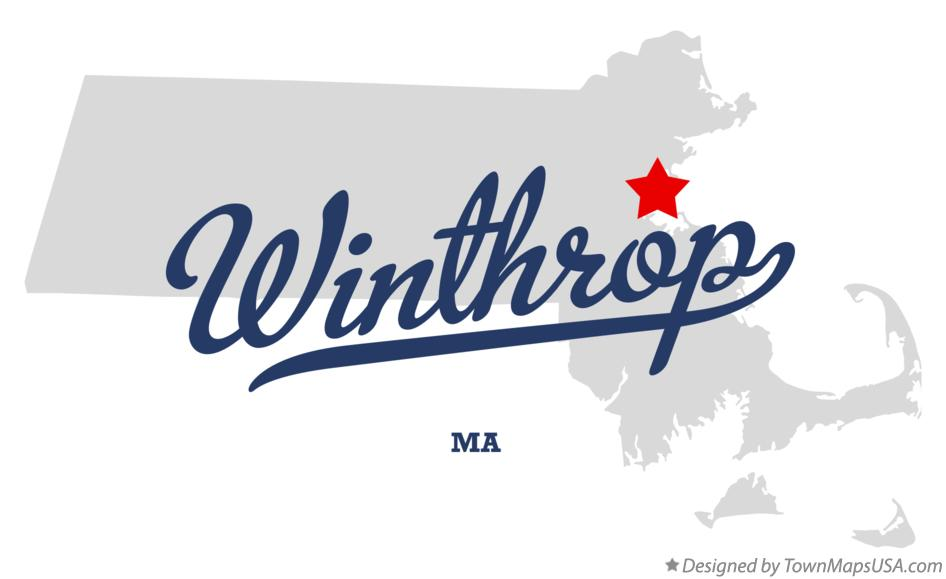 Map of Winthrop Massachusetts MA