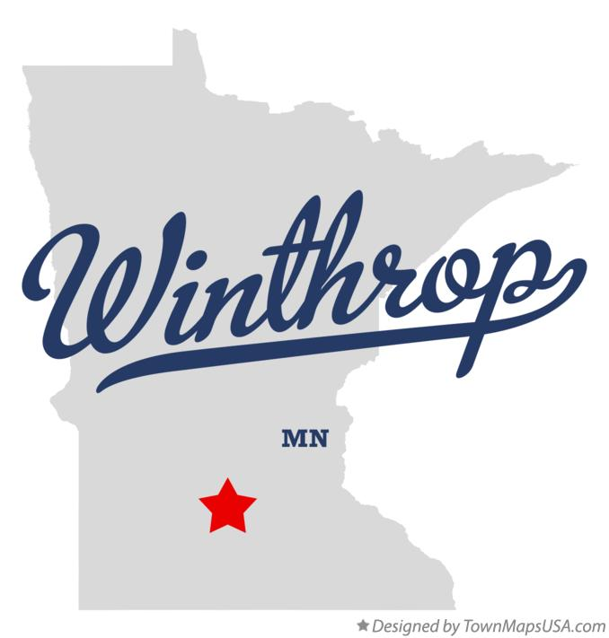 Map of Winthrop Minnesota MN