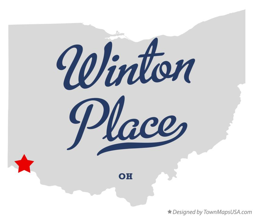 Map of Winton Place Ohio OH