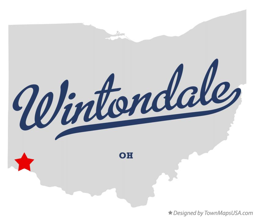 Map of Wintondale Ohio OH