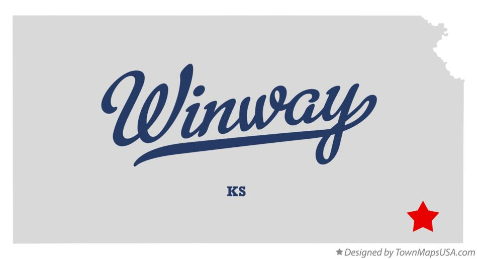 Map of Winway Kansas KS