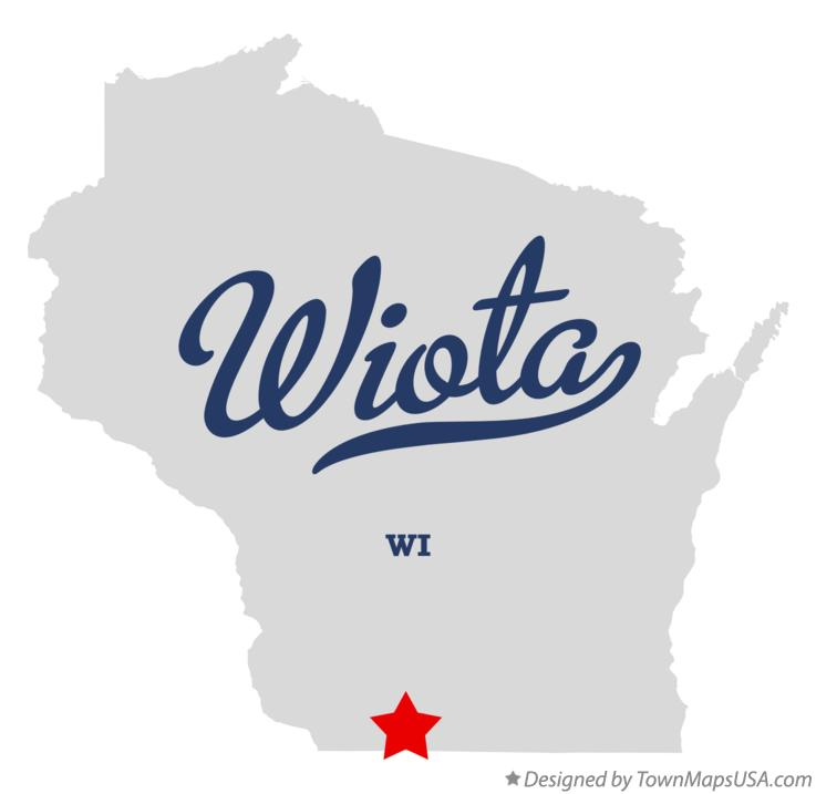 Map of Wiota Wisconsin WI