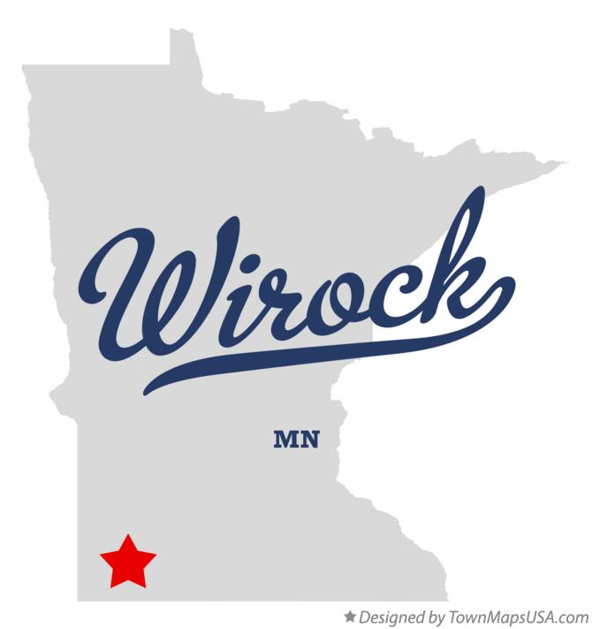 Map of Wirock Minnesota MN