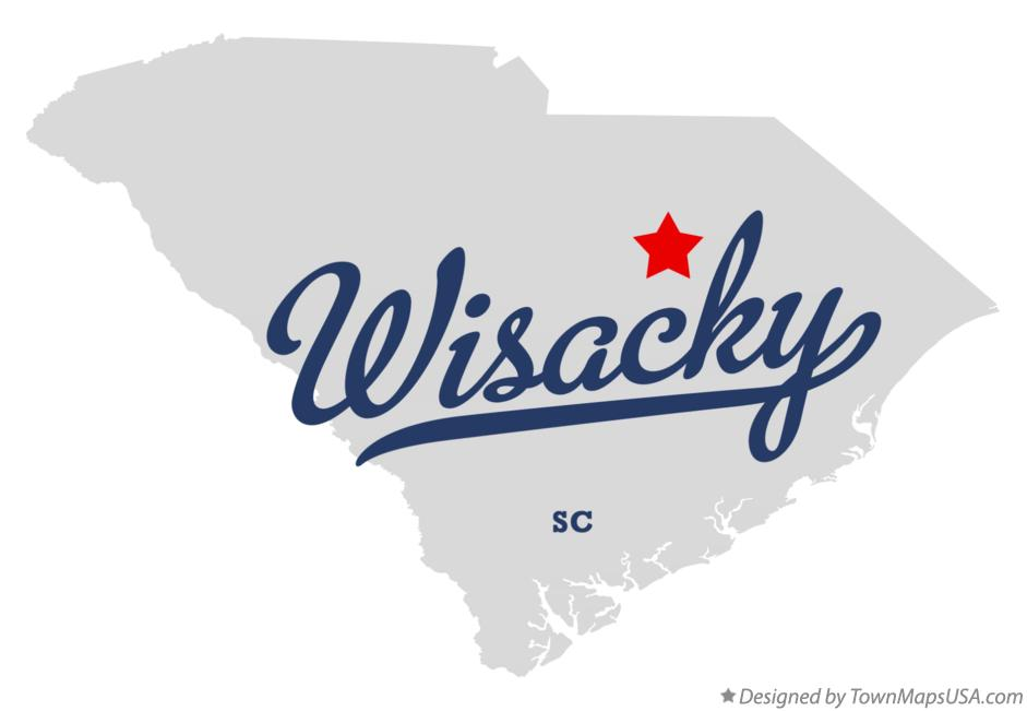 Map of Wisacky South Carolina SC
