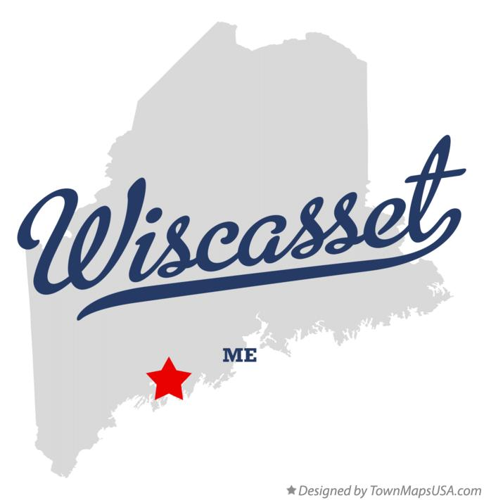Map of Wiscasset Maine ME