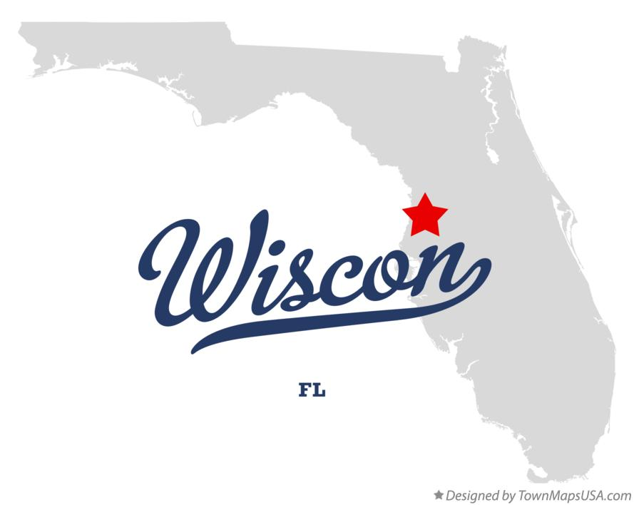 Map of Wiscon Florida FL