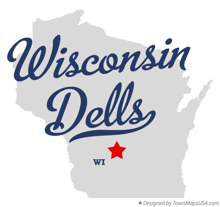 Map of Wisconsin Dells Wisconsin WI