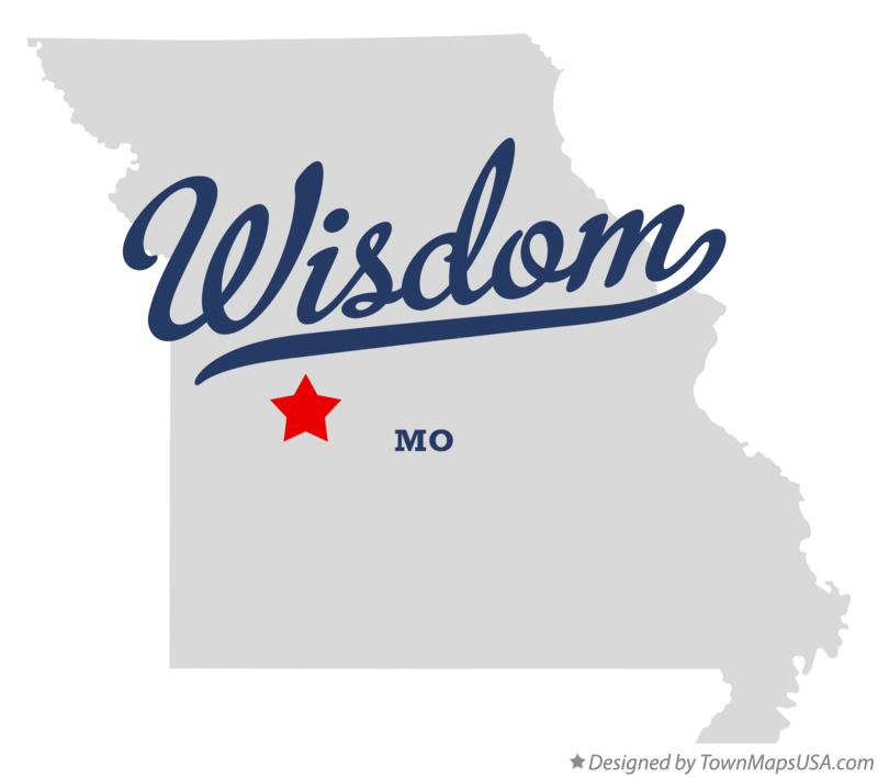 Map of Wisdom Missouri MO