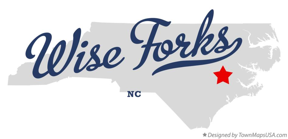 Map of Wise Forks North Carolina NC