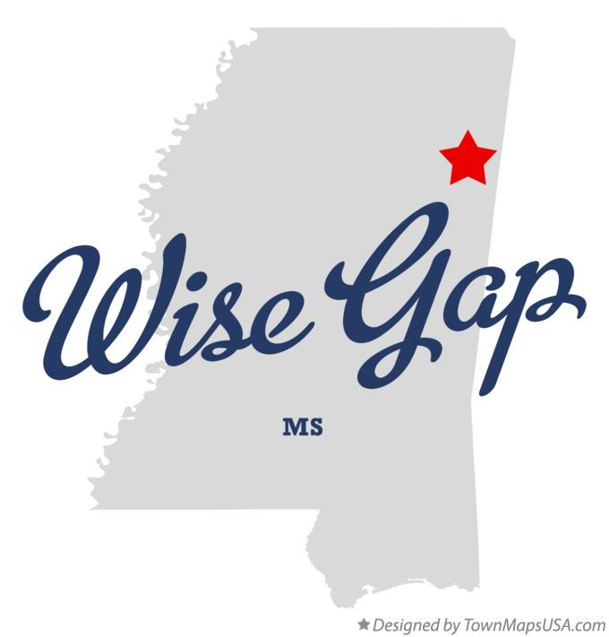 Map of Wise Gap Mississippi MS