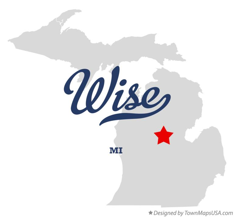 Map of Wise Michigan MI