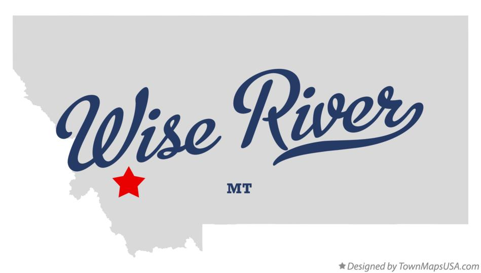 Map of Wise River Montana MT