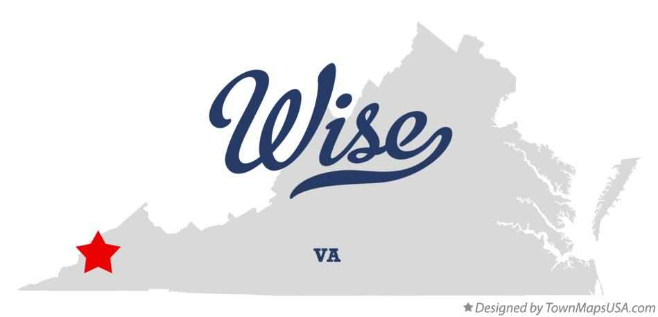 Map of Wise Virginia VA