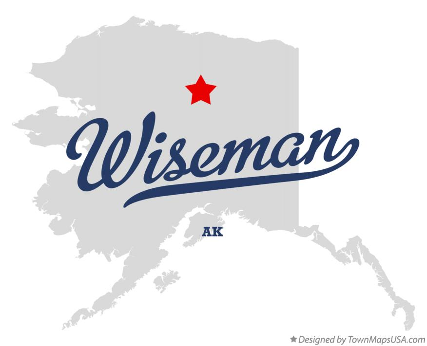 Map of Wiseman Alaska AK