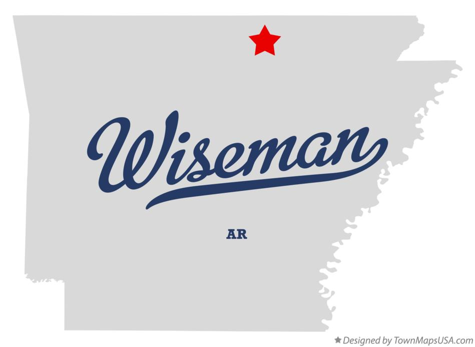 Map of Wiseman Arkansas AR