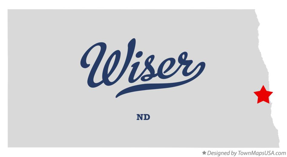 Map of Wiser North Dakota ND