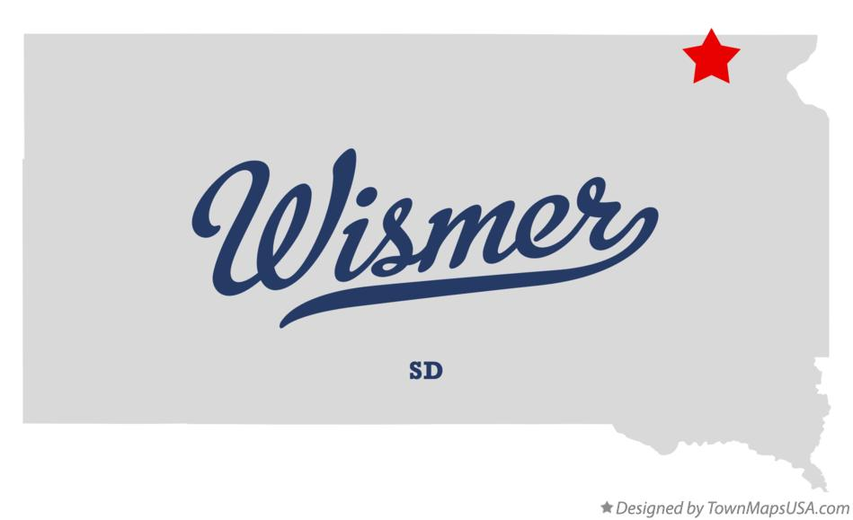 Map of Wismer South Dakota SD