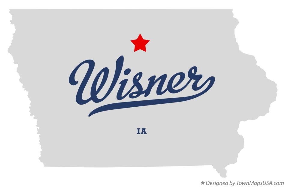Map of Wisner Iowa IA
