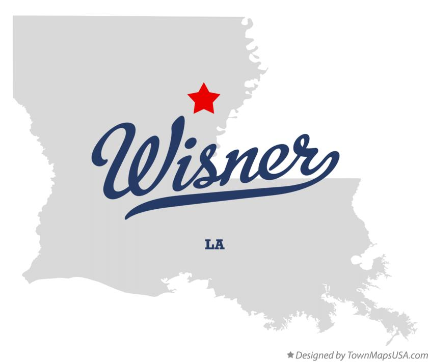 Map of Wisner Louisiana LA
