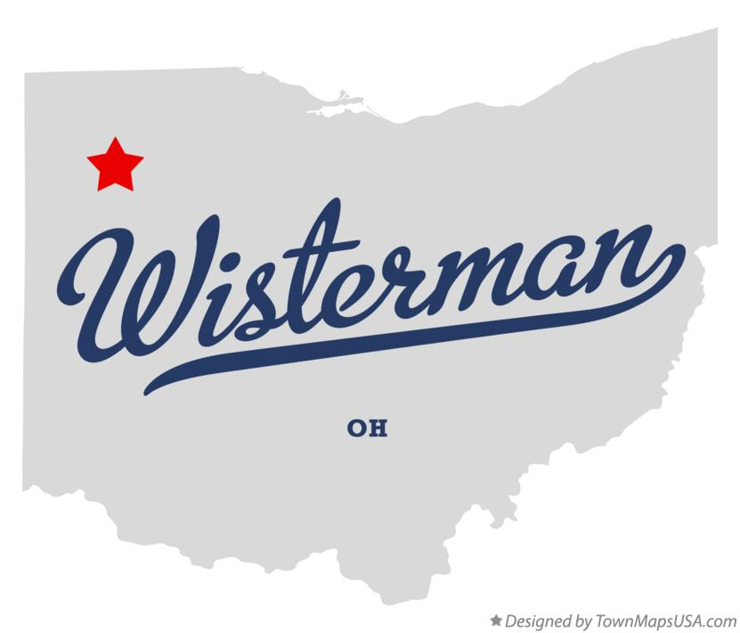 Map of Wisterman Ohio OH