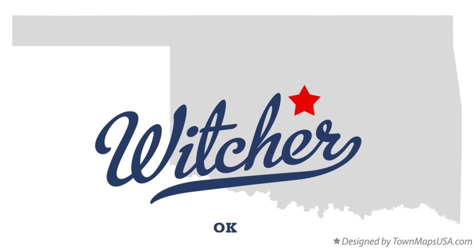 Map of Witcher Oklahoma OK