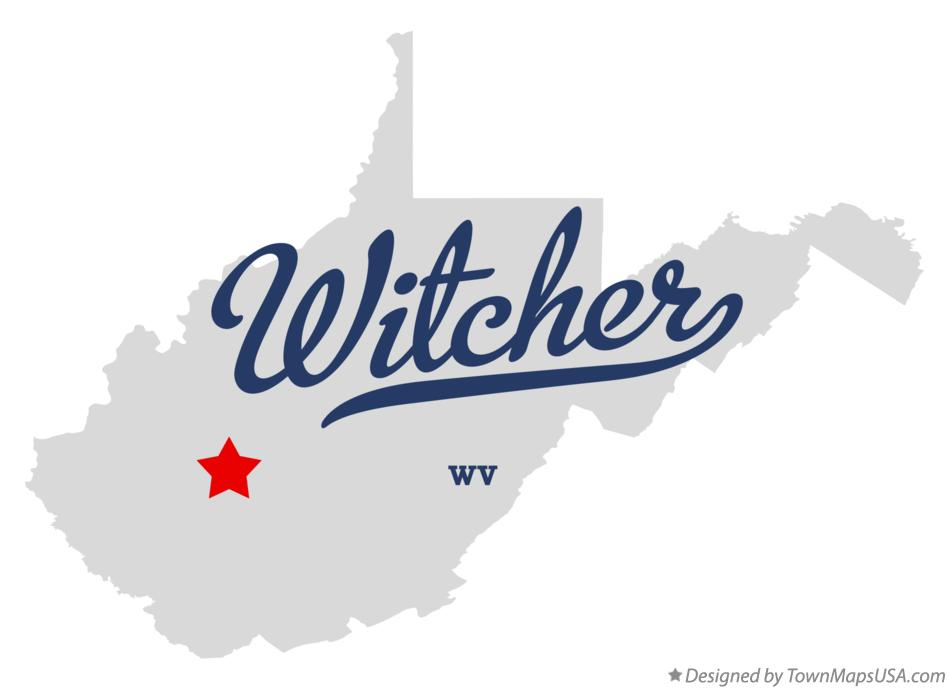 Map of Witcher West Virginia WV