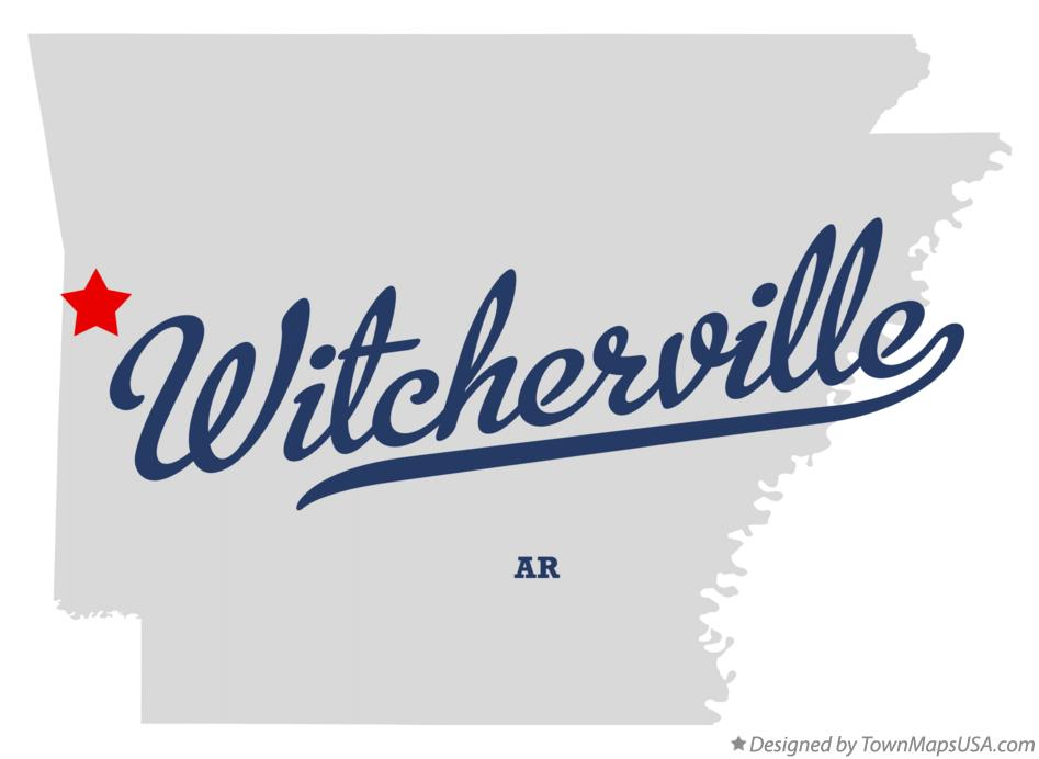 Map of Witcherville Arkansas AR