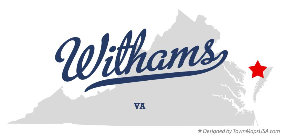 Map of Withams Virginia VA