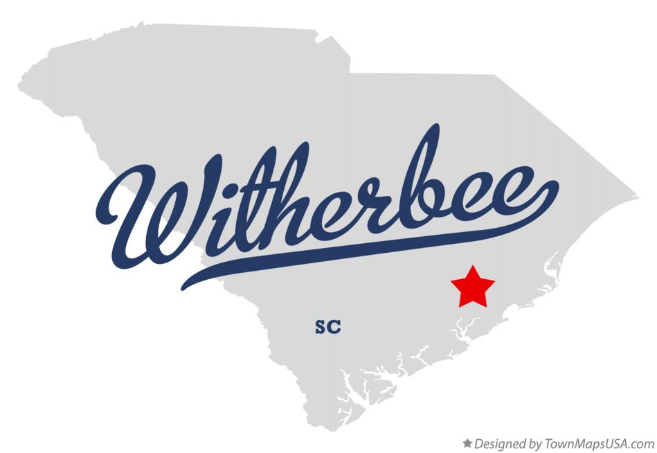 Map of Witherbee South Carolina SC