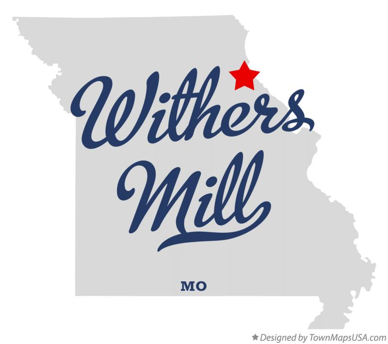Map of Withers Mill Missouri MO