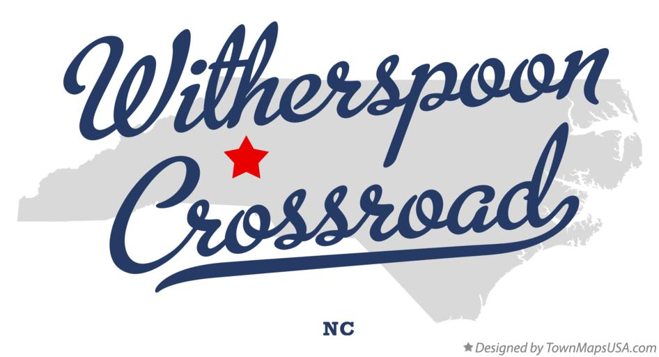 Map of Witherspoon Crossroad North Carolina NC