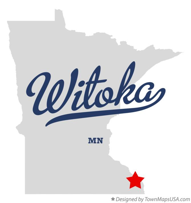 Map of Witoka Minnesota MN