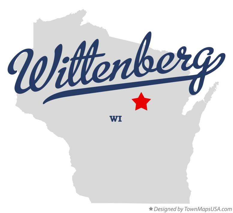 Map of Wittenberg Wisconsin WI