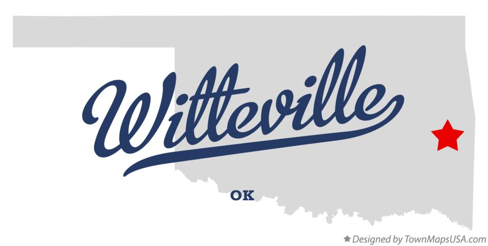 Map of Witteville Oklahoma OK