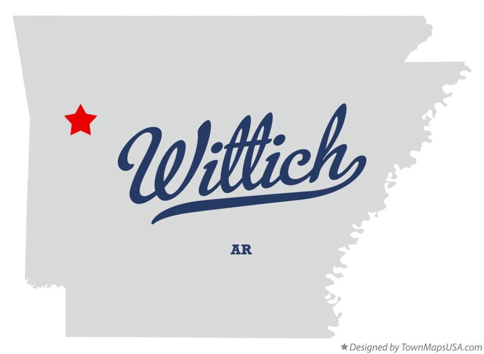 Map of Wittich Arkansas AR