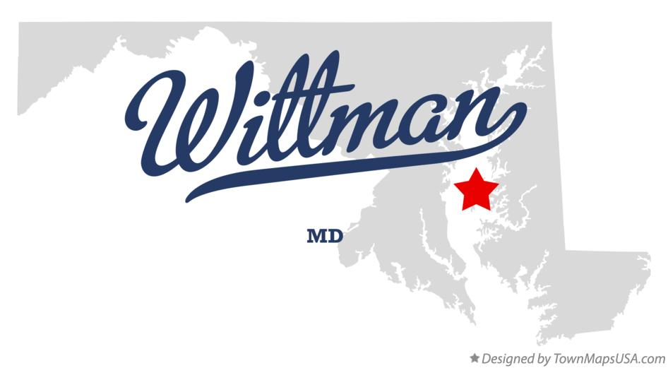 Map of Wittman Maryland MD
