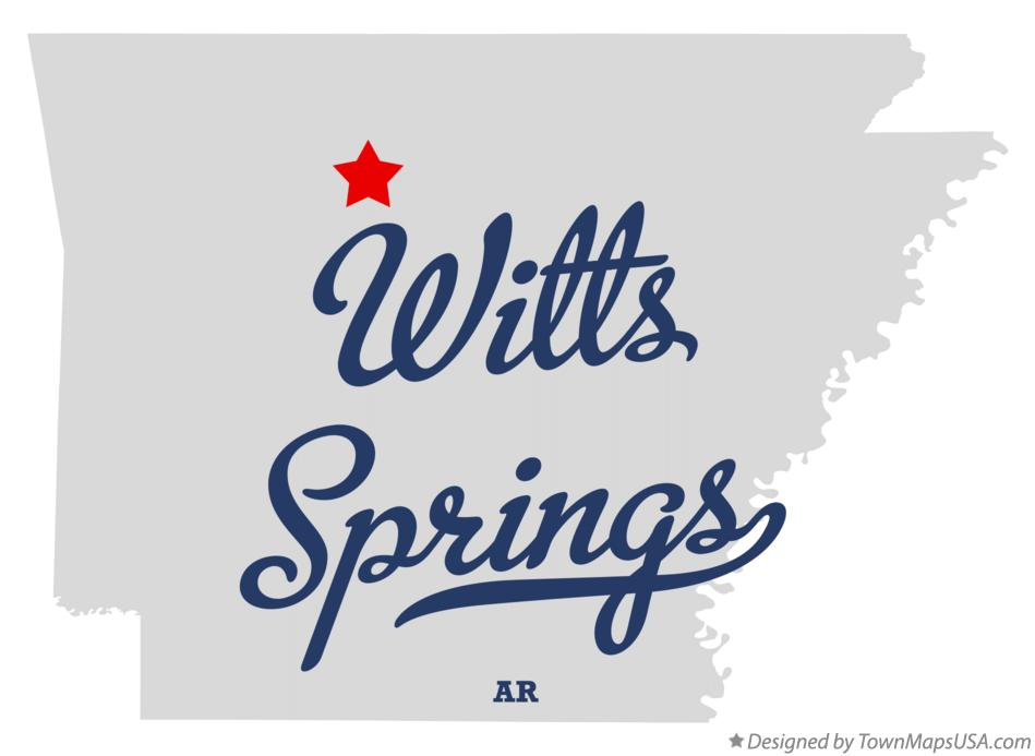 Map of Witts Springs Arkansas AR