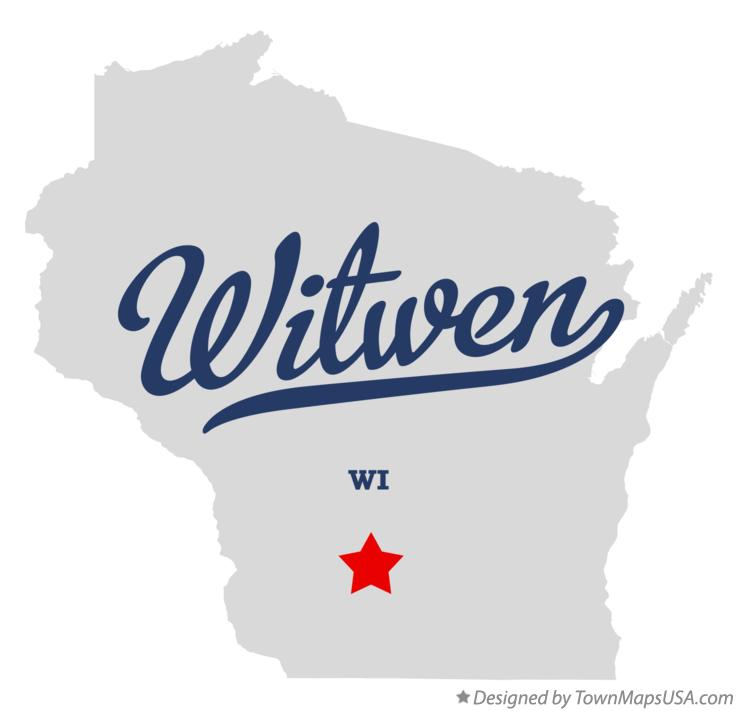 Map of Witwen Wisconsin WI