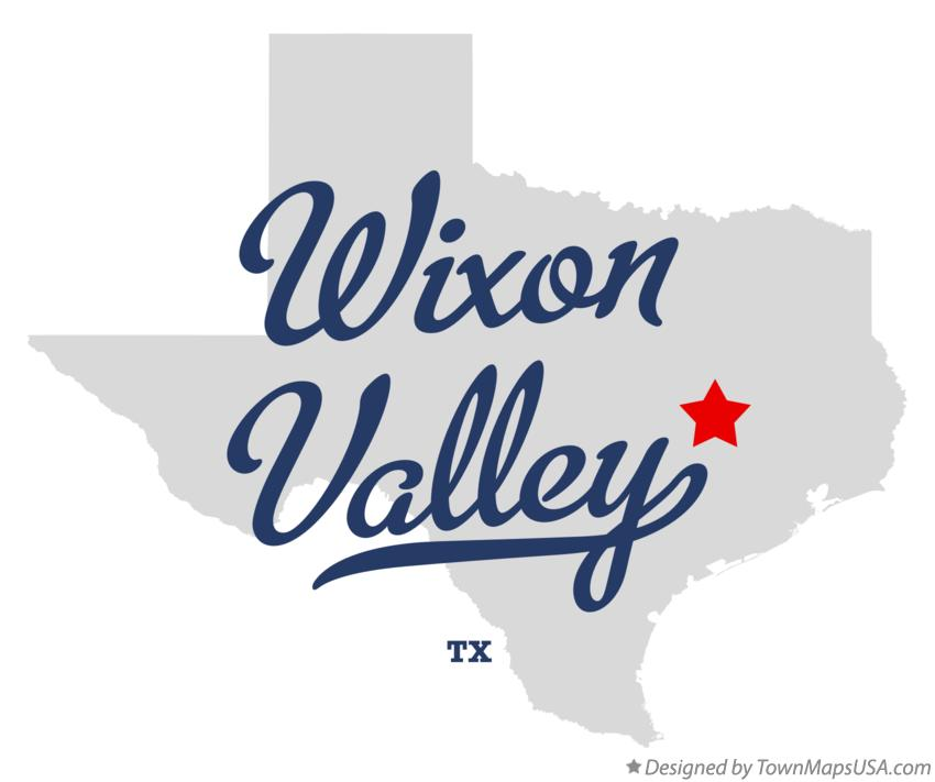 Map of Wixon Valley Texas TX