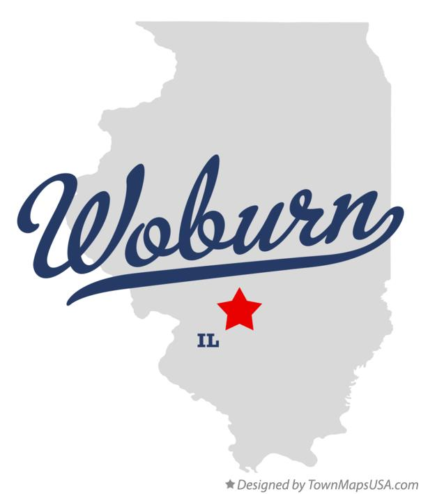 Map of Woburn Illinois IL