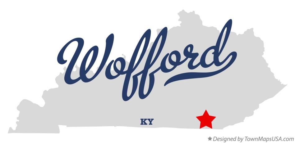 Map of Wofford Kentucky KY