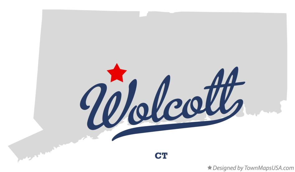 Map of Wolcott Connecticut CT