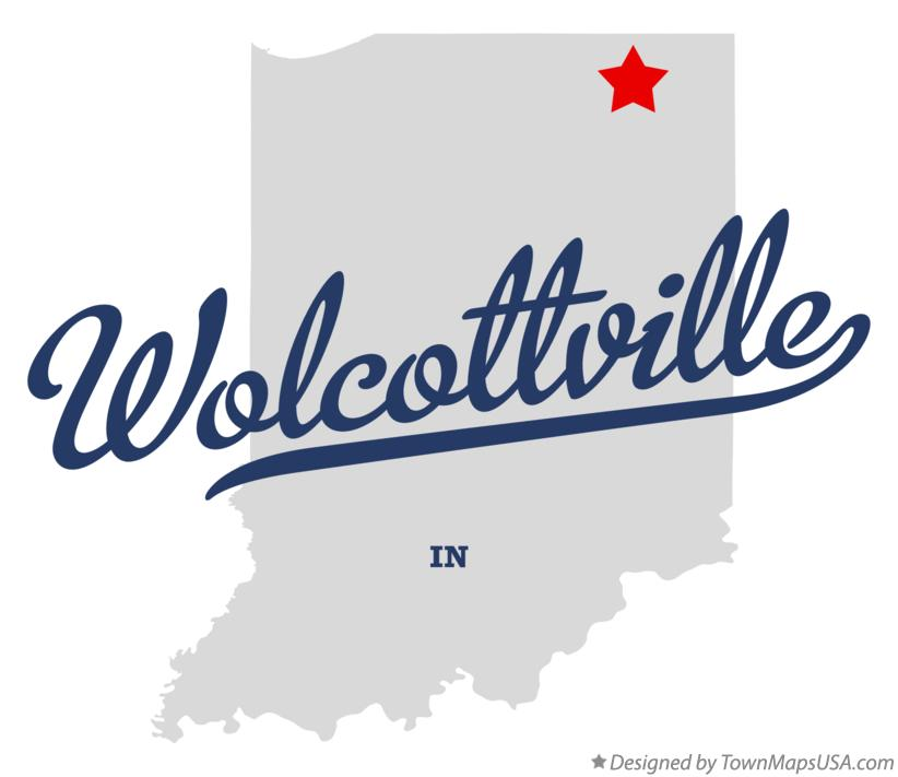 Map of Wolcottville Indiana IN