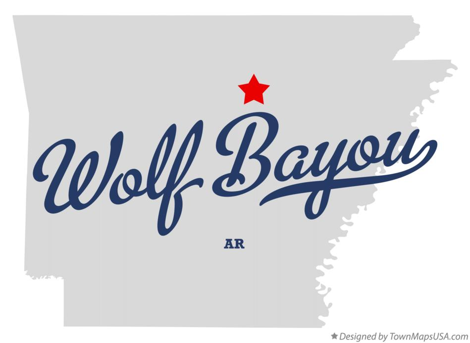 Map of Wolf Bayou Arkansas AR